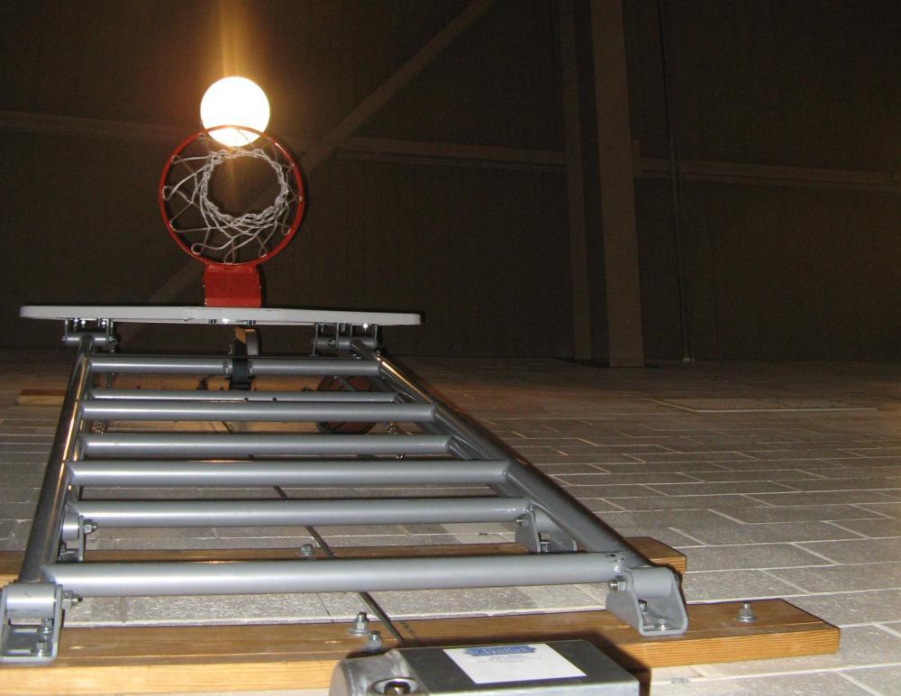 Gym Light over the Basketball Goal