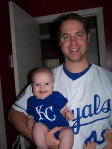 Me and Phoebe - Go Royals!