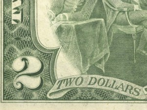 2 dollar bill corner