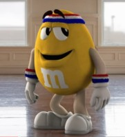 Yellow M&M