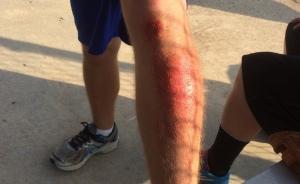 sliding leg scrape cut